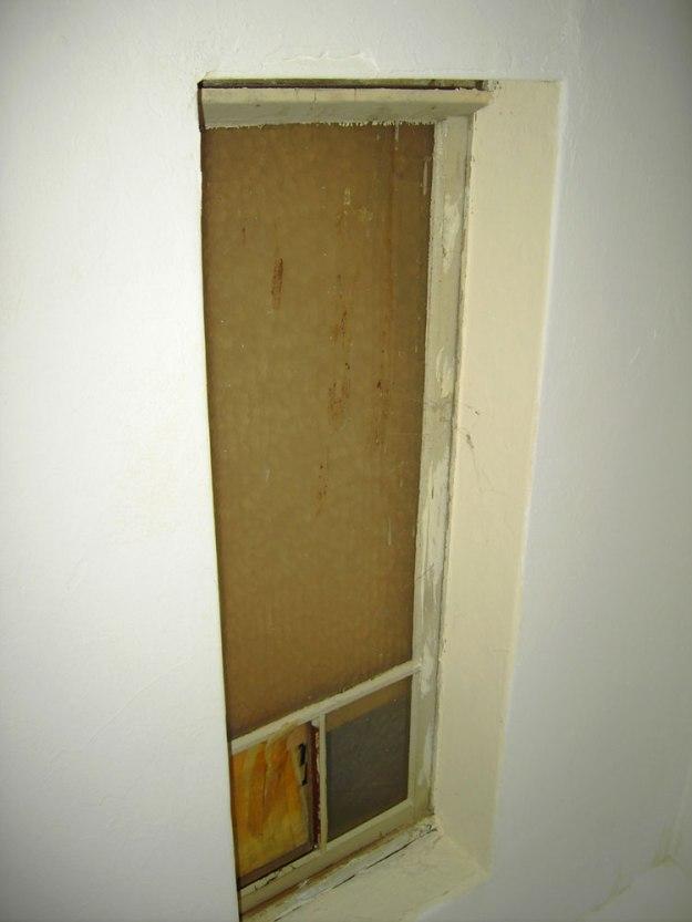 alte Maueröffnung verschlossen vorher